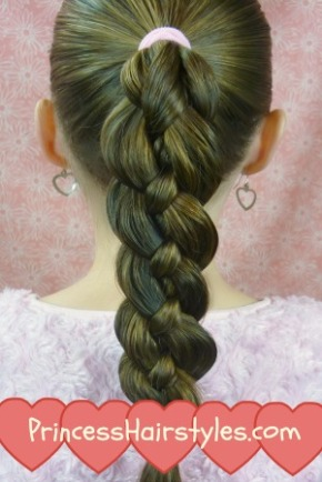 How To Four (4) Strand Braid Tutorial การเปีย 4