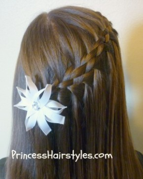 Five (5) Strand Waterfall Braid การเปีย 5
